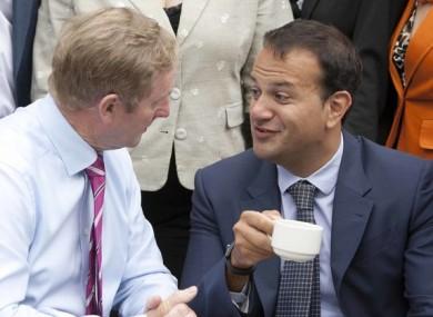 Enda Kenny and Leo Varadkar.