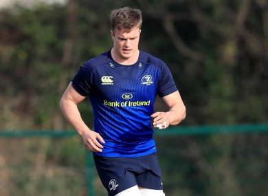 It's a big night for JVDF and some of his Leinster team mates.