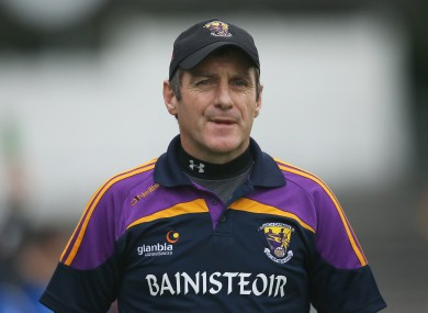 Former Wexford manager Liam Dunne is now coaching the senior team at Dublin club Ballinteer St John's.