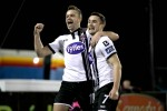 Benson and Kilduff ensure Dundalk get off to winning ways against 10-man Rovers