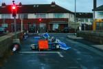 Overturned temporary fences in Clontarf, Dublin.