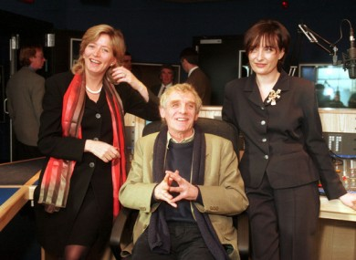 Eamon Dunphy with Ann Marie Hourihane (right) and Emily O Reilly at the launch of Radio Ireland's line up.