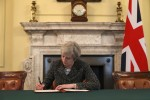 Signed, sealed and to be delivered tomorrow: May signs Article 50 letter triggering Brexit