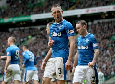 Rangers' goalscorer Clint Hill.