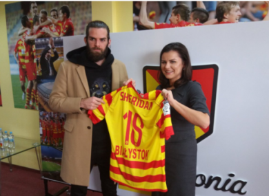 Cillian Sheridan signed for Jagiellonii Białystok earlier this week.