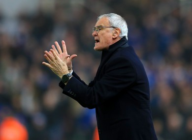Leicester sacked Claudio Ranieri earlier this month.