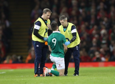 Murray injured his shoulder against Wales in Cardiff.