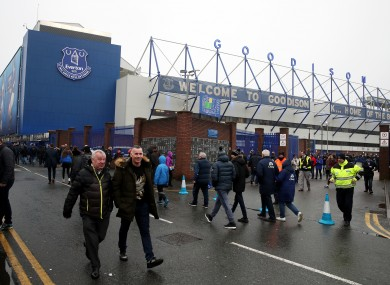 Goodison Park has been home to Everton since 1892.