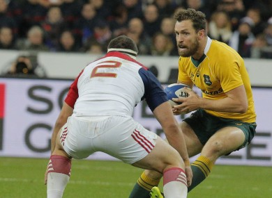 Morahan featured for Australia in the win over France last November.