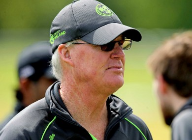 Ireland coach John Bracewell.