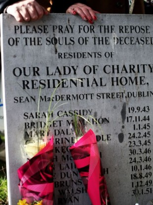 A previous Flowers for Magdalenes remembrance event in Glasnevin cemetery, Dublin