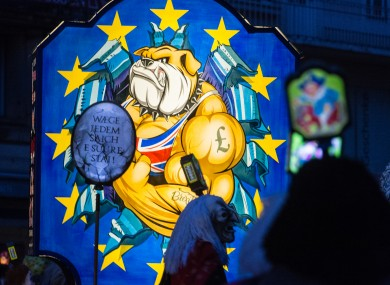 A Brexit-themed float at a parade in Basel, Switzerland this week.