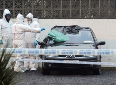 Gardai at the scene of the 2013 shooting.
