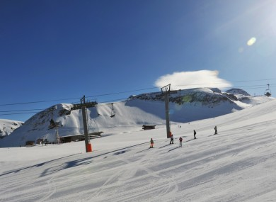 File image of a ski slope in the French Alps.