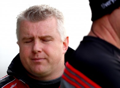 Mayo manager Stephen Rochford feels the strain as his team slump at home to Cavan.