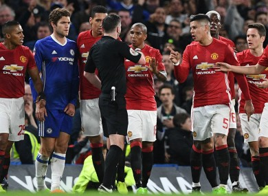 Manchester United players v Chelsea