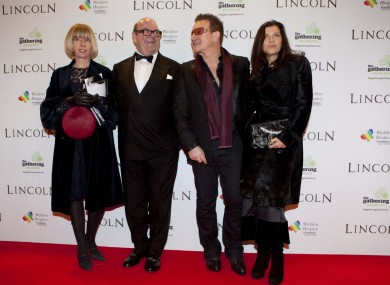 McGuinness pictured with Bono in 2012