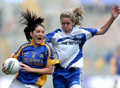 Mairead Morrissey of Tipperary during the 2013 TG4 All Ireland Ladies Intermediate Football final.