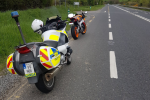 A motorcyclist on a provisional licence was clocked at over 200km/hr today