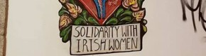 This lovely Repeal the 8th street art has been spotted on a wall in Portugal