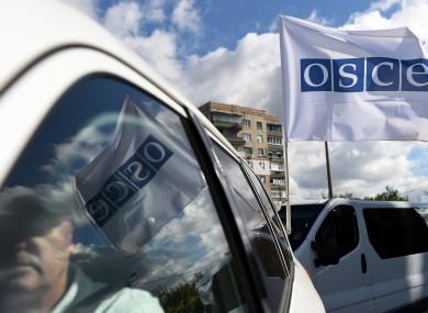 File photo of OSCE observers in Ukraine.