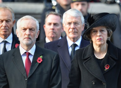 Corbyn and May at least year's remembrance services.