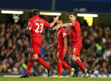 Gerrard and Carragher will don the red of Liverpool again for a friendly in May.