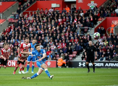 AFC Bournemouth's Harry Arter misses from the penalty spot during the Premier League match.