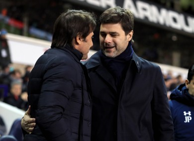 Antonio Conte and Mauricio Pochettino.