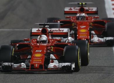 Ferrari duo Sebastian Vettel and Kimi Raikkonen.