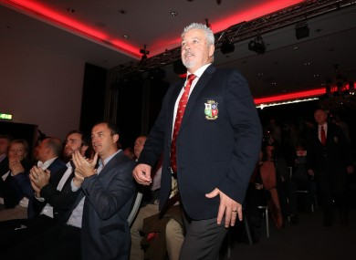 British and Irish Lions head coach Warren Gatland.