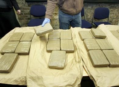 Stock photo of heroin drugs seizure