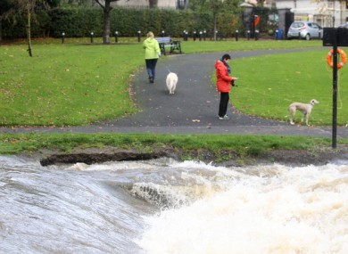 File photo of the river Tolka in Dublin flooding in 2014.