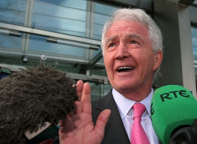 Sean FitzPatrick outside the court building yesterday.