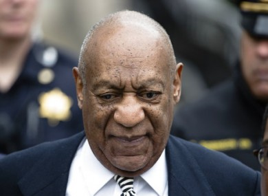 Bill Cosby departing a pretrial hearing last month