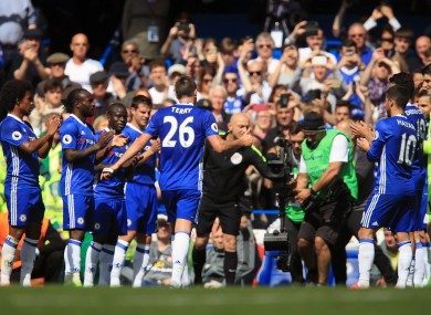 Chelsea's John Terry leaves the field on the 26th minnute during the Premier League match at Stamford Bridge last Sunday.