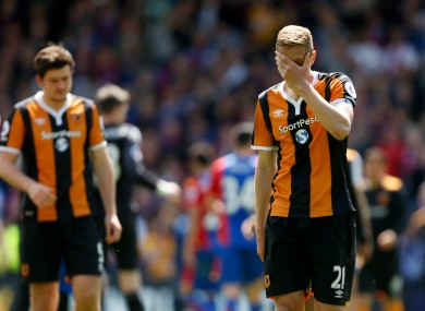 Hull pair Harry Maguire and Michael Dawson at the final whistle.