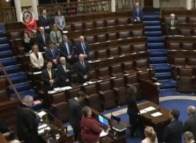 The Dáil prayer begins each day of business.