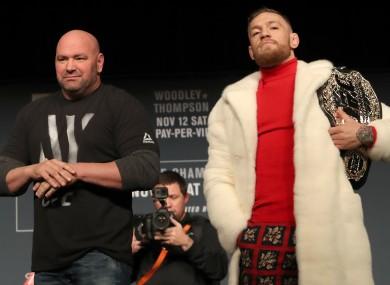 UFC president Dana White and lightweight champion Conor McGregor.