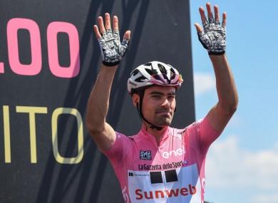 Current Giro d'Italia leader Tom Dumoulin.