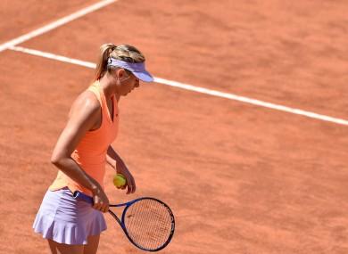 Maria Sharapova (file pic).