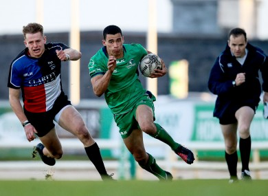 Conroy in action for Connacht Eagles in December.