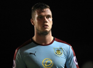 Burnley defender Kevin Long.