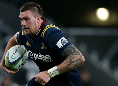 New Zealand and Highlanders flanker Liam Squire.