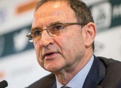 Ireland boss Martin O'Neill.