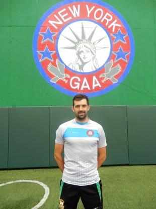 New York defender Gerard McCartan.