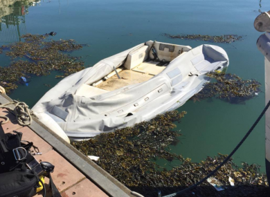 The boat was slashed so much it's been destroyed.