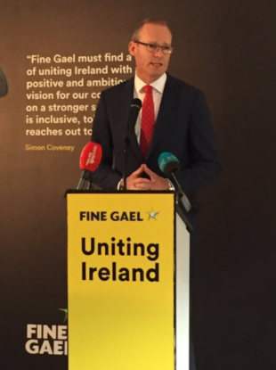 Simon Coveney was launching this his policy priorities today.
