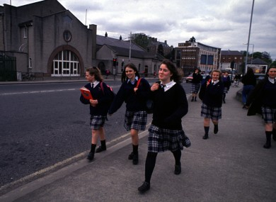 Students leaving St Anne's in Miltown