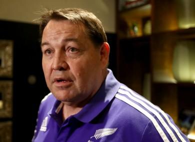 New Zealand head coach Steve Hansen